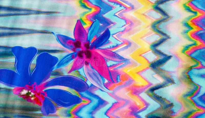 Silk Beschaffenheit des Gewebes, Farbe, Abstraktion lizenzfreie abbildung