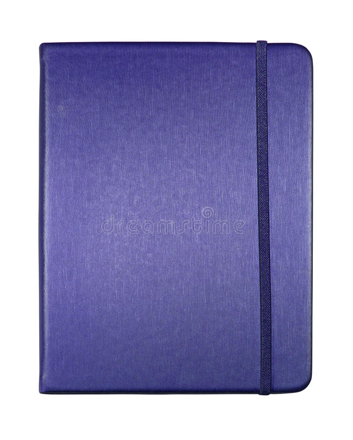 Silk blue color cover note book isolated royalty free stock photography