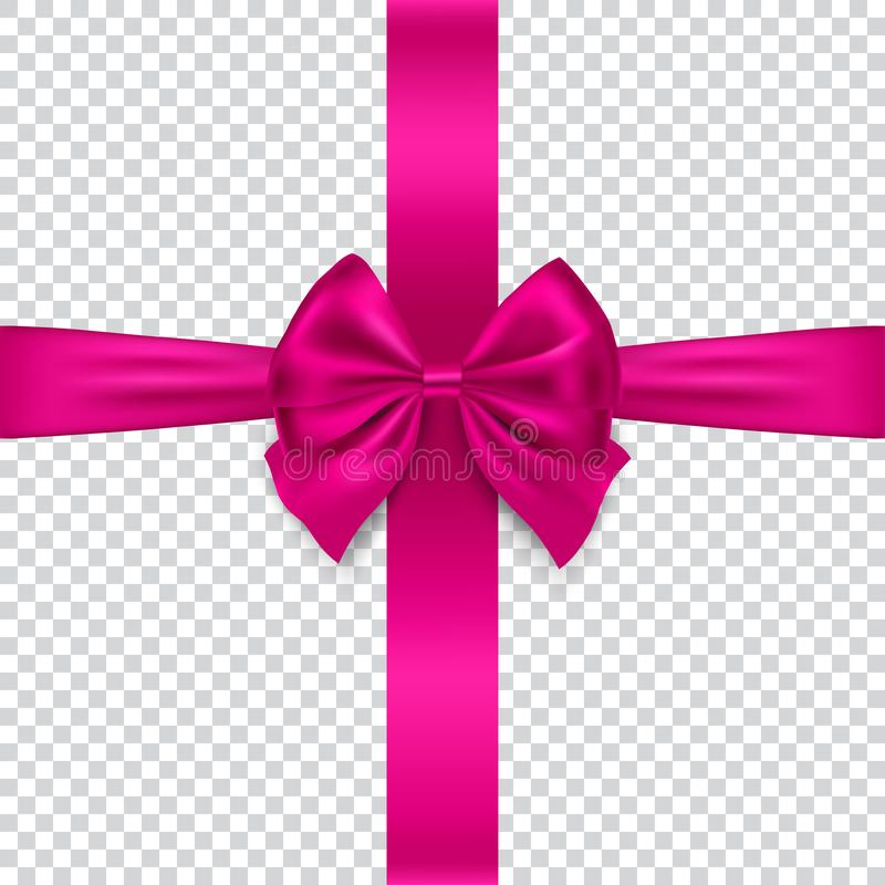 Free Silk Bow And Ribbon Isolated On Transparent Background, Vector Stock Image - 103458241