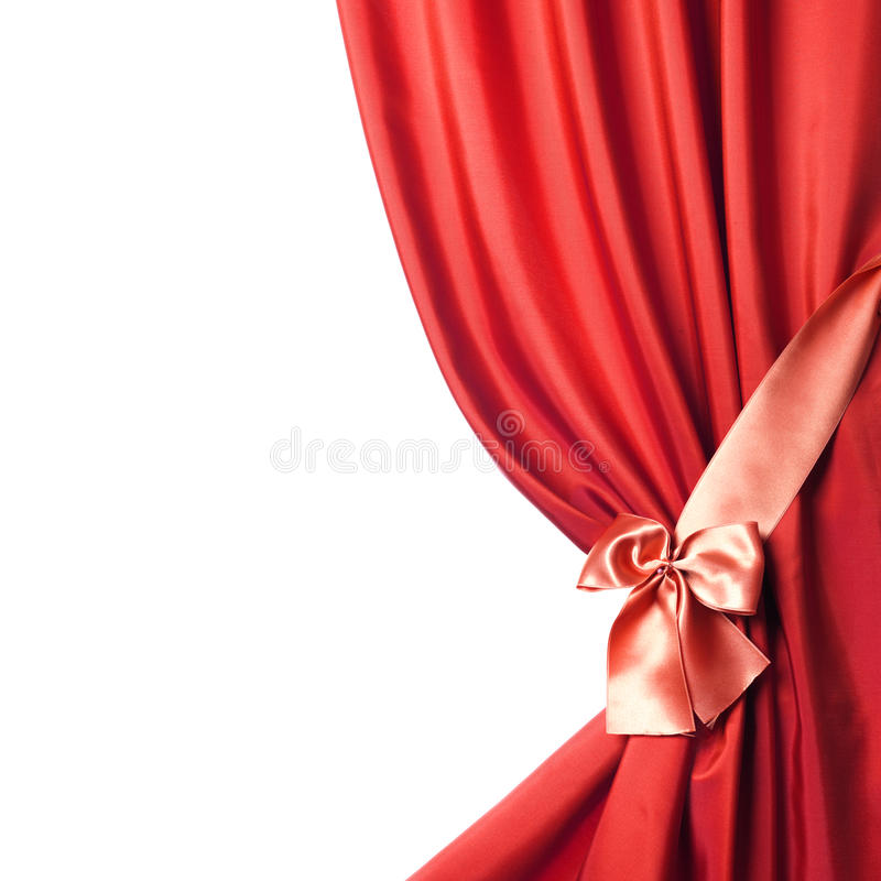 Silk Curtain over white stock images