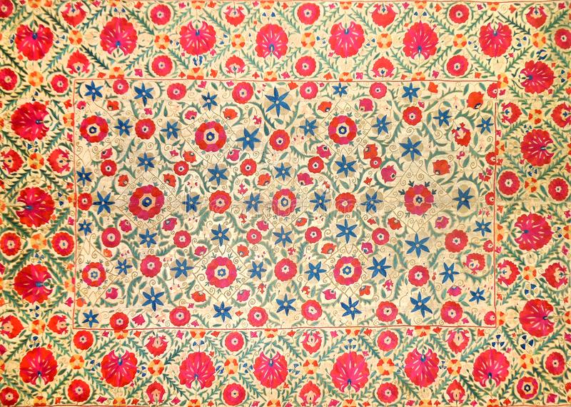 Eastern arabic decorative embroidery pattern stock photography