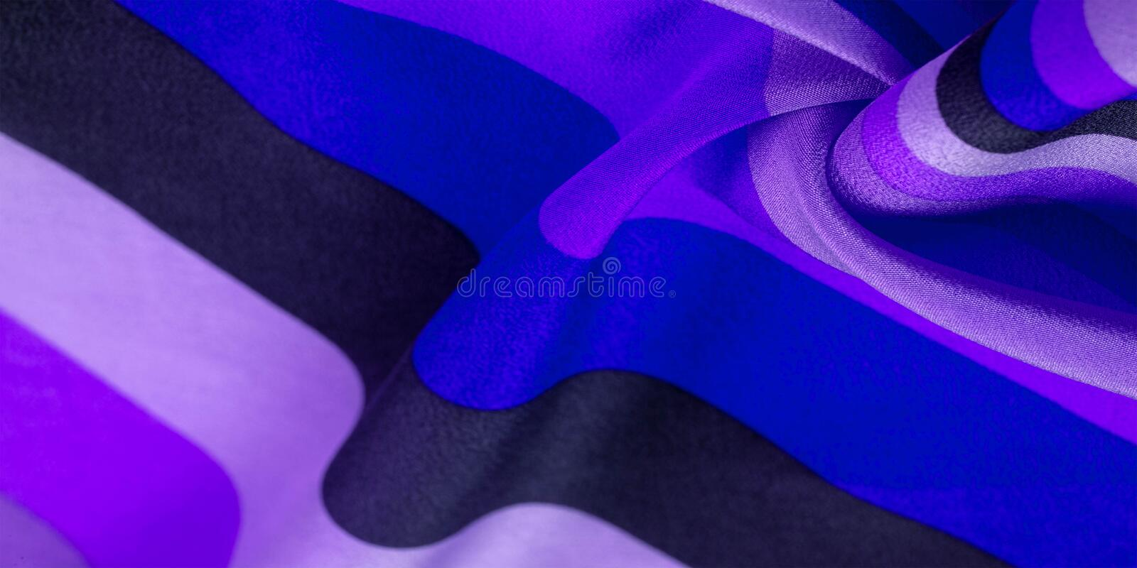 Silk fabric, striped fabric blue azure pearly white lines, exquisite design. The photo is intended for, interior, imitation,. Fashion designer, marketing royalty free stock photos