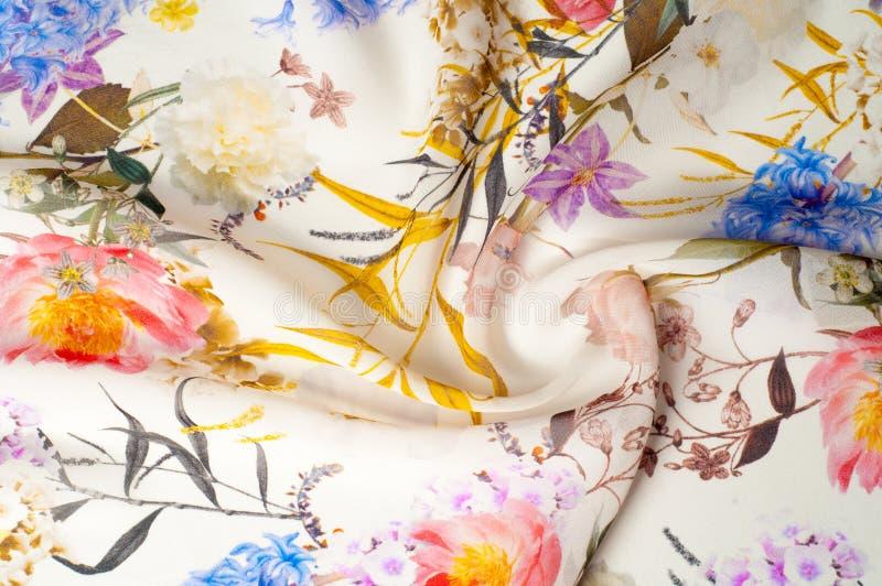 Silk fabric. stock photo