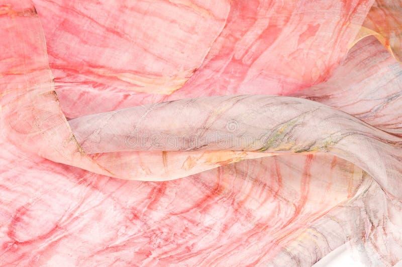 Silk fabrics. Hand made hand painted silk vector illustration