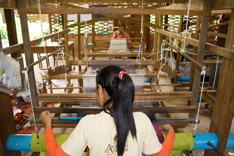 Silk factory stock image