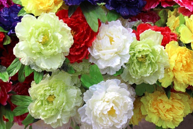 Silk flower royalty free stock photo