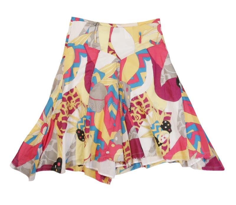 Silk flowers skirt stock photos
