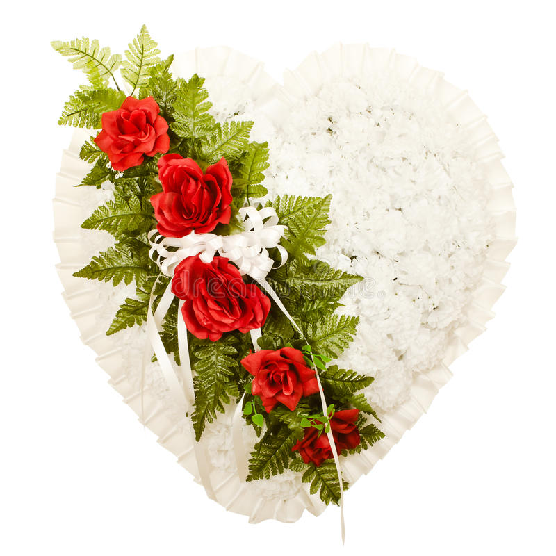 Silk funeral floral arrangement royalty free stock image