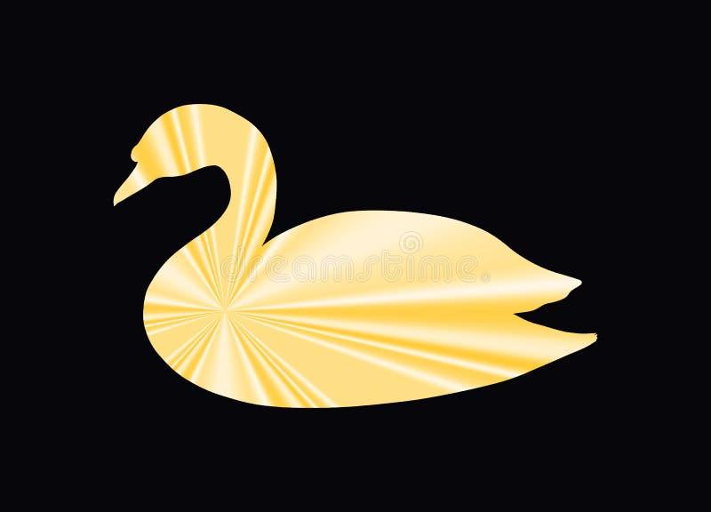 Silk goldener Schwan, abstrakt stock abbildung