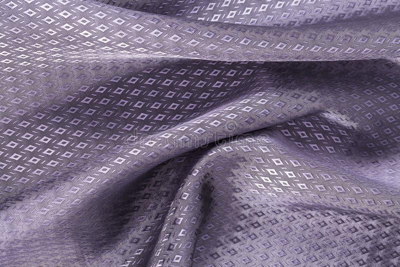 Silk Hintergrund, Beschaffenheit des Veilchens, patern glänzendes Gewebe des Diamanten lizenzfreie stockbilder