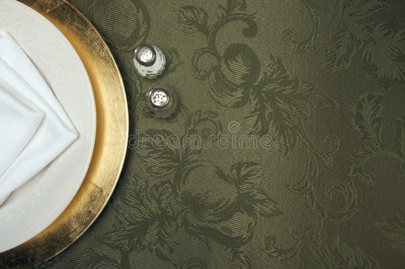 Silk Hintergrund und Platten-Einstellung lizenzfreie stockbilder
