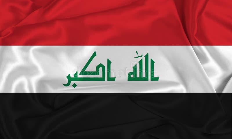 Silk Iraq Flag. An Iraq flag over silk texture stock photo