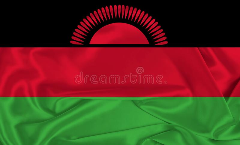 Silk Malawi Flagg arkivbild