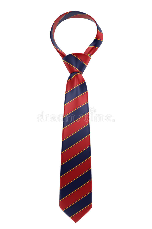 Silk necktie. 3d illustration isolated on white background royalty free illustration