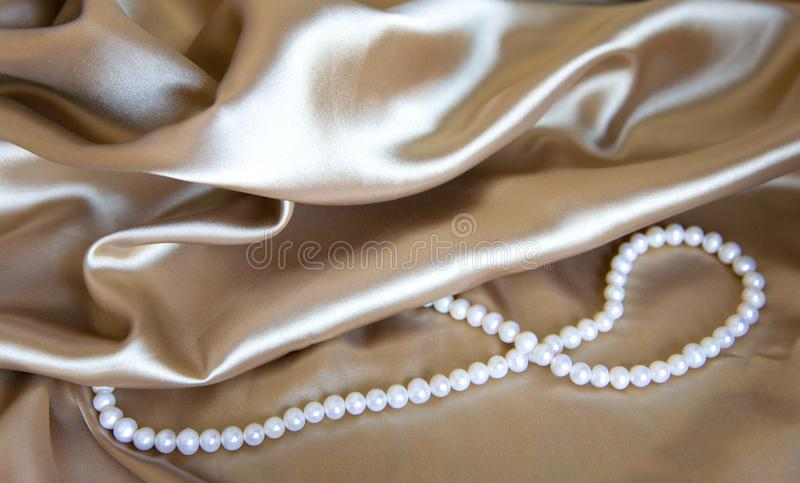 Download Silk & Pearl stock photo. Image of champagne, color, backdrop - 18570924