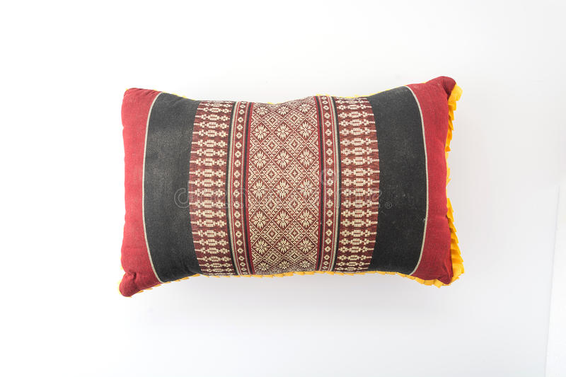 Silk pillow on white stock images