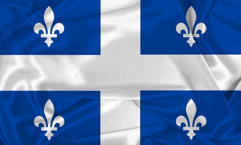 Silk Quebec Flag. A Quebec flag over silk texture royalty free stock photos