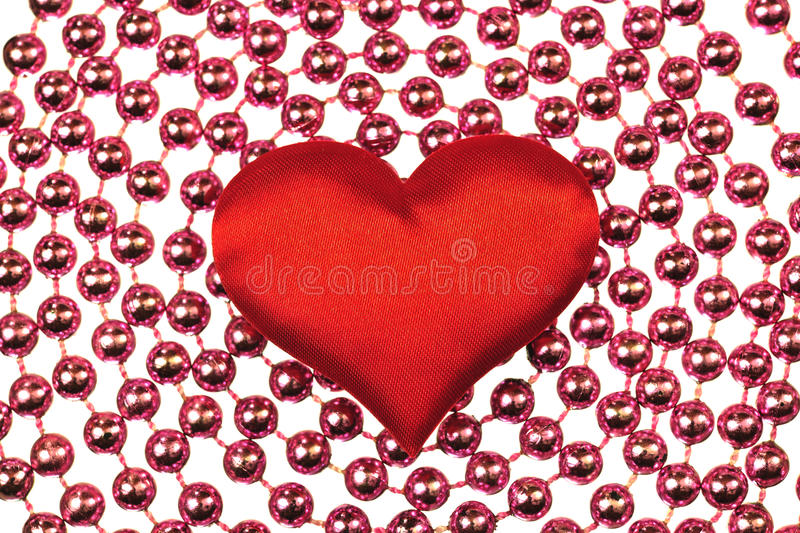 Silk Red Heart Royalty Free Stock Image