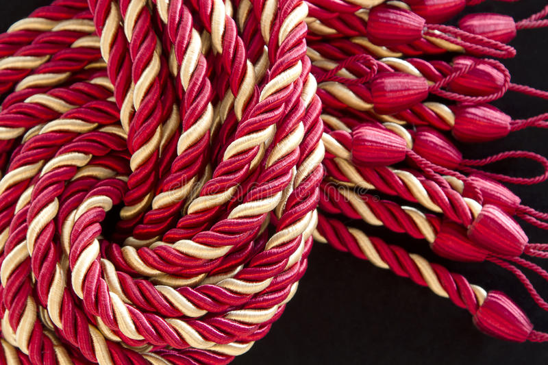 the silk rope curtain tassels.