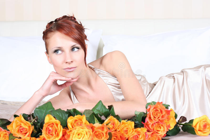 Download Silk and roses stock photo. Image of date, glamour, gift - 10782054