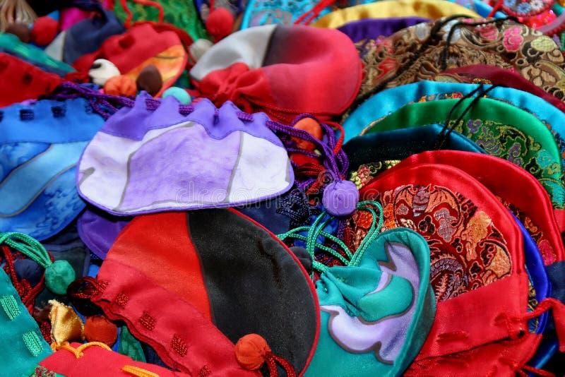 Download Silk Sacks stock image. Image of chinese, drawstring, oriental - 451997
