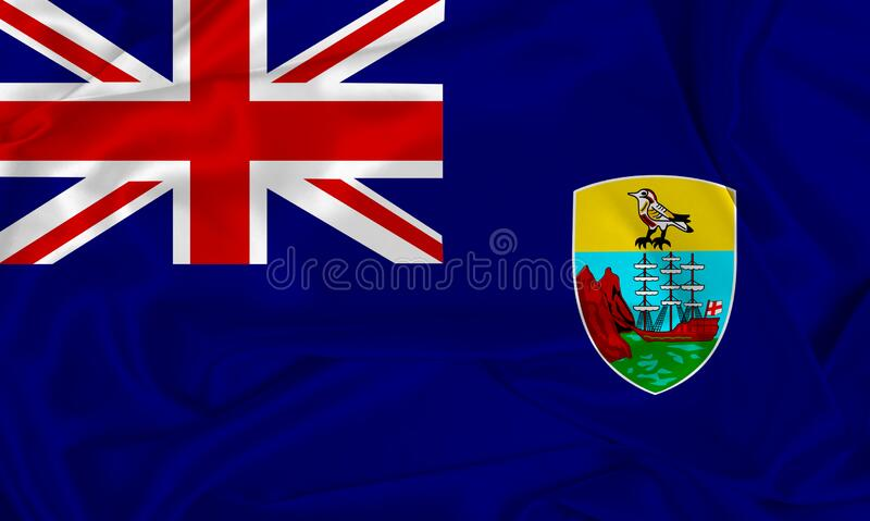 Silk Saint Helena Flag stockbild