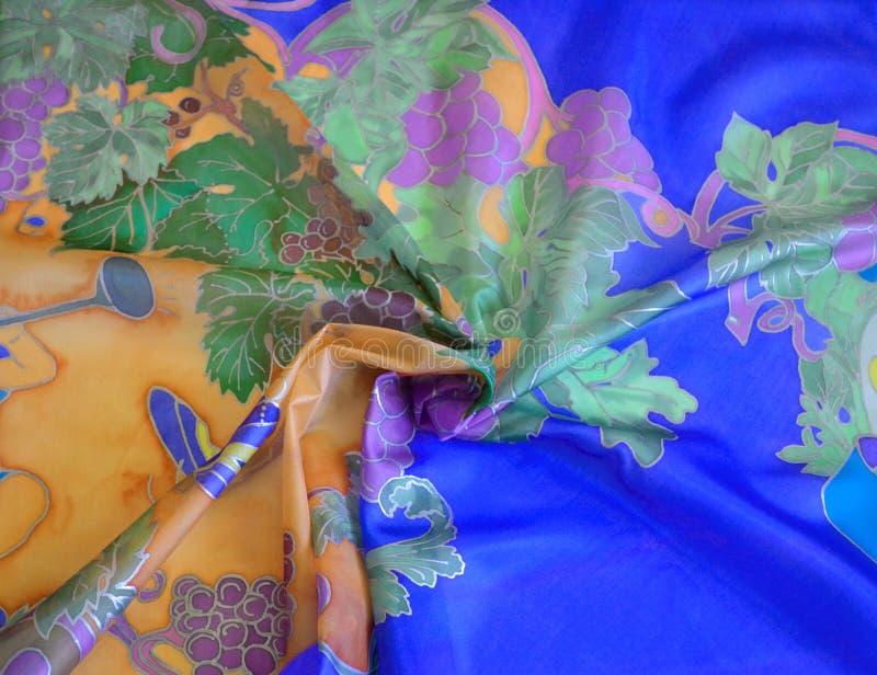 Silk scarf royaltyfri foto