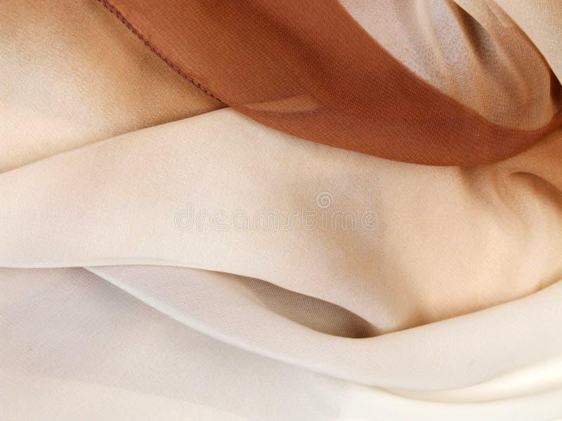 Silk scarf - textile background stock photos