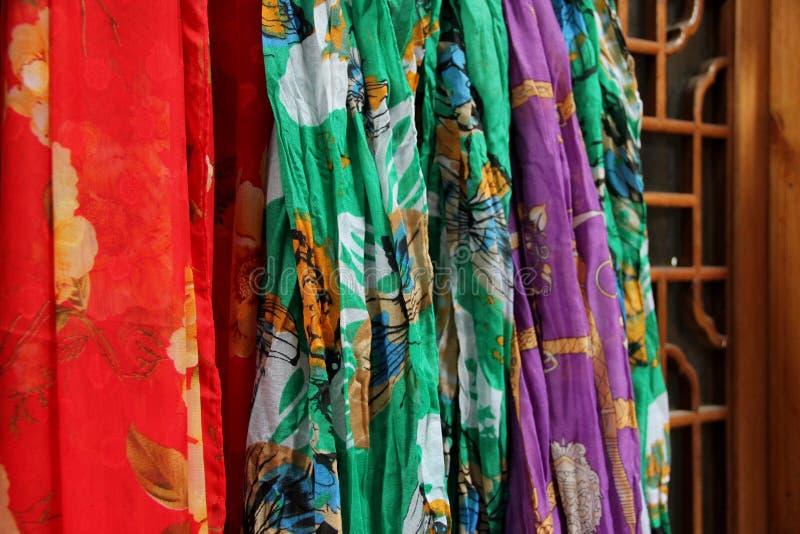 silk scarves royaltyfri fotografi