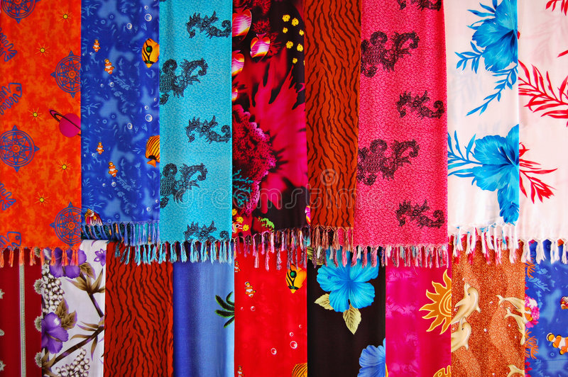 Silk scarves stock image