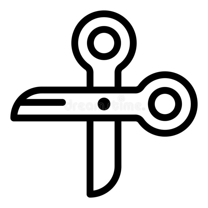 Silk scissors icon, outline style royalty free illustration