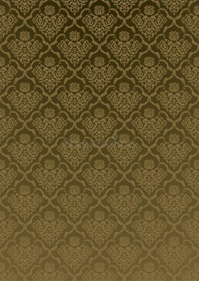 Silk Tapete Victoriangold stock abbildung