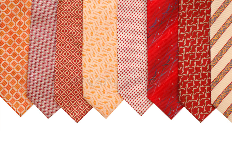 Silk ties isolated stock photography