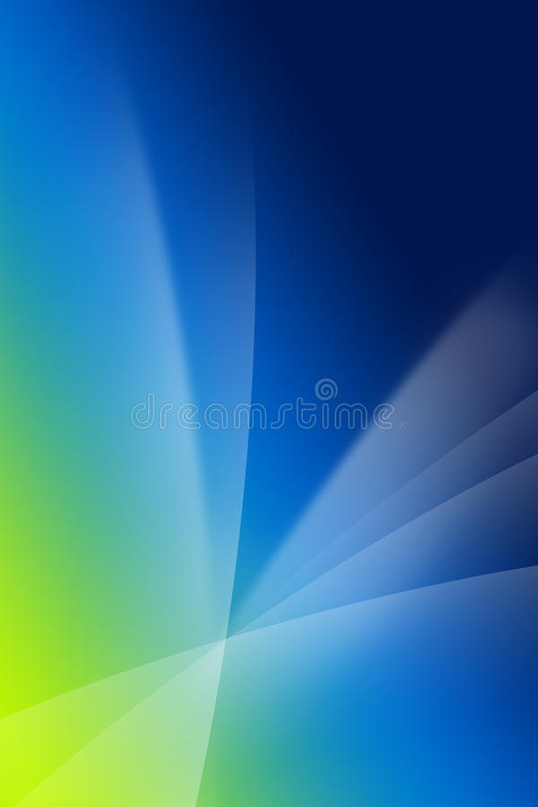 Silk wave background. Blue and green silk wave background royalty free illustration
