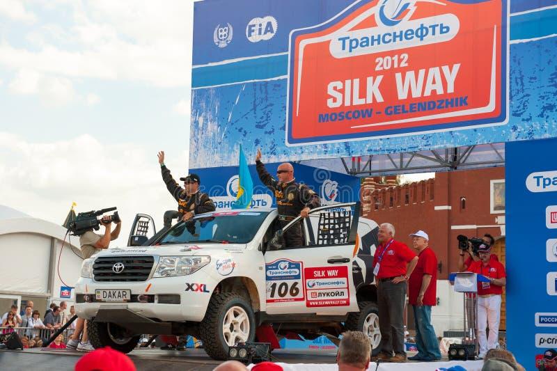 Silk Way Rally start stock photos