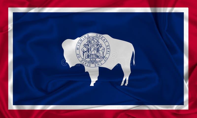Silk Wyoming State-flagga royaltyfri bild