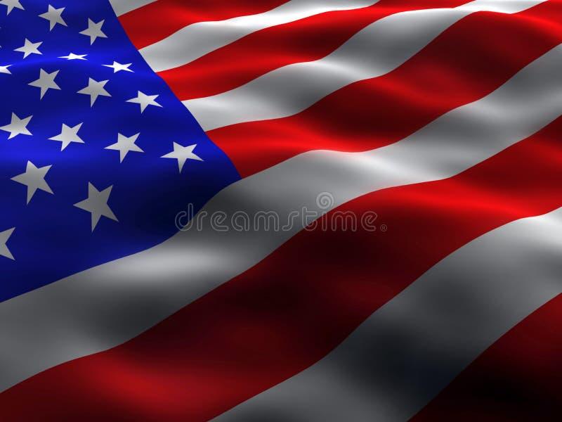 silkeslen flagga oss royaltyfri illustrationer