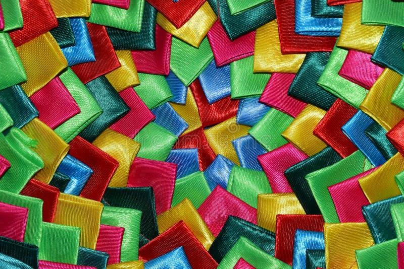 Silkeslena koncentriskt ordnade hörn arkivbild