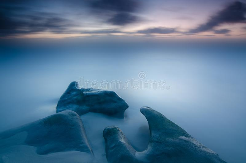 Silkeslena släta hav arkivbilder