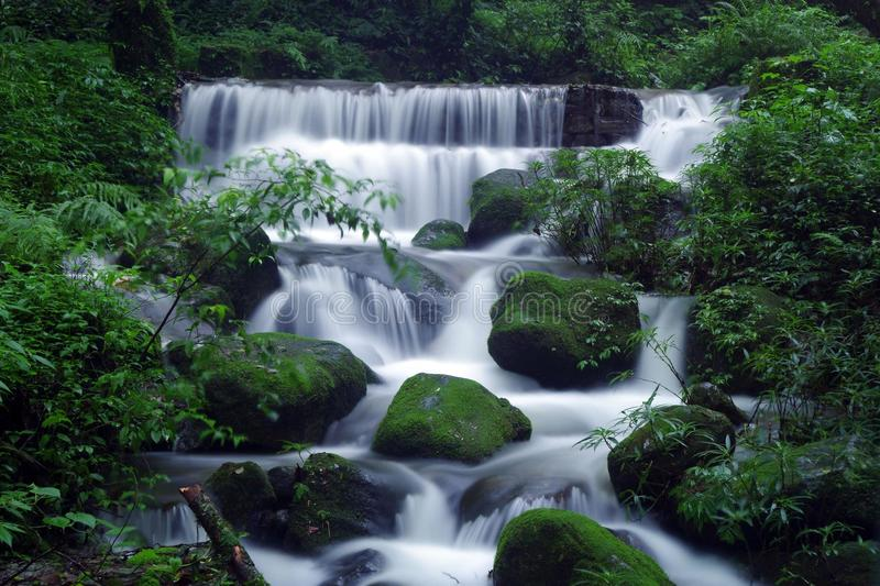 Silkfalls. Waterfall situated in Shivapuri-Nagarjun National Park, Nepal stock images