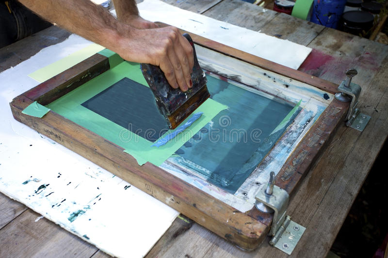 Silkscreening royalty free stock photo