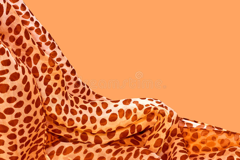 Download Silk Dotted scarf stock image. Image of draped, background - 26275877