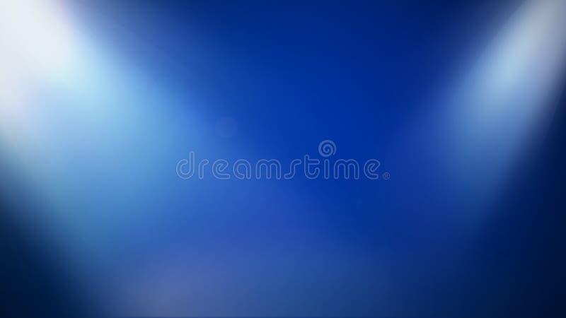 Silky Gładka scena Zaświeca Dwa Miękkiego światła na Subtelnym błękicie - rozrywka Ilustrujący tło - ilustracja wektor