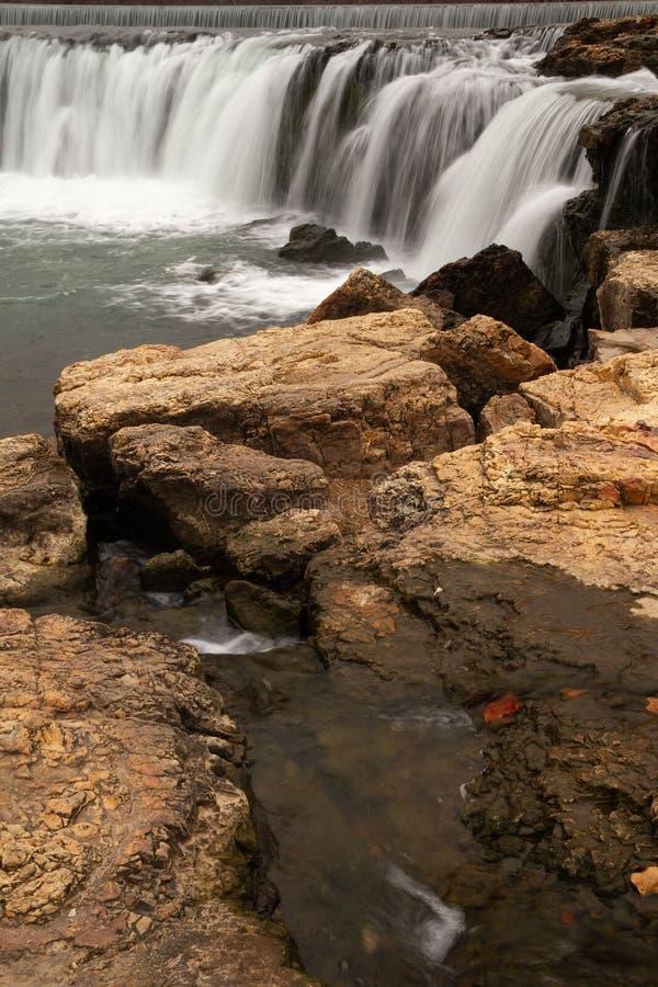 Silky Grand Falls in Missouri stock image