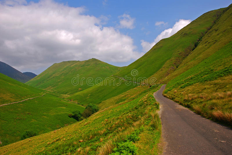 Silky Grassland In Lake District Stock Images