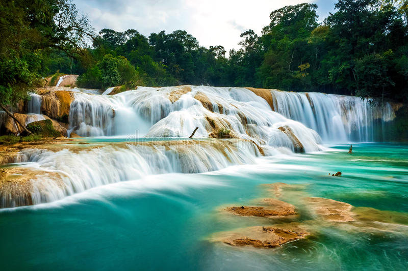 Silky Rough. Shot at the Agua Azul park in Chiapas, Mexico. A truly unforgettable place royalty free stock images
