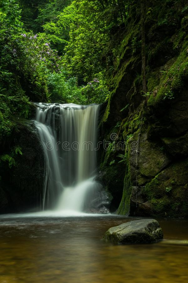 Silky smooth waterfall stock images