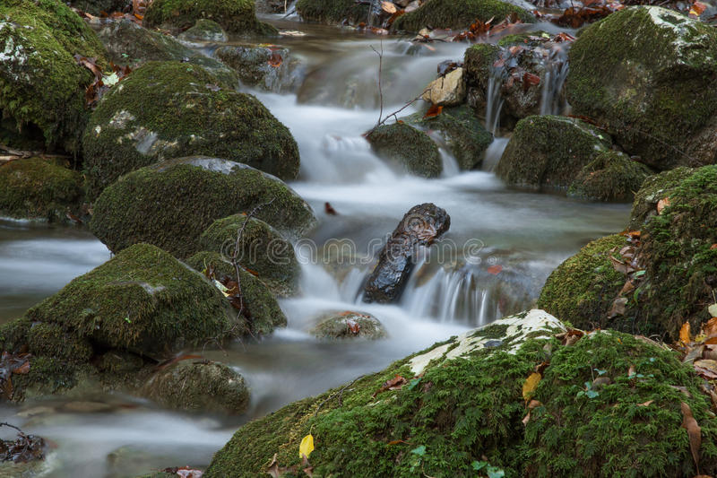 Silky stream stock images