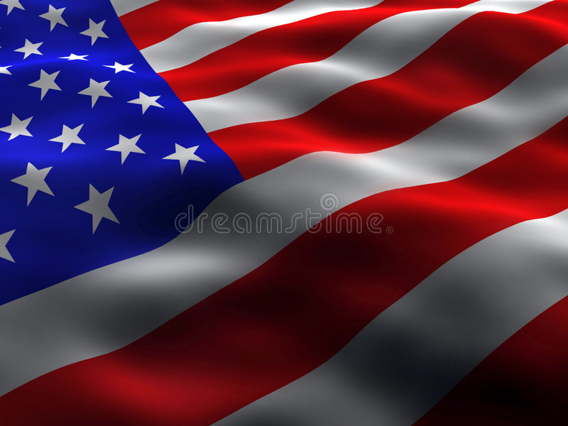 Silky US Flag. Wavy and silky US Flag