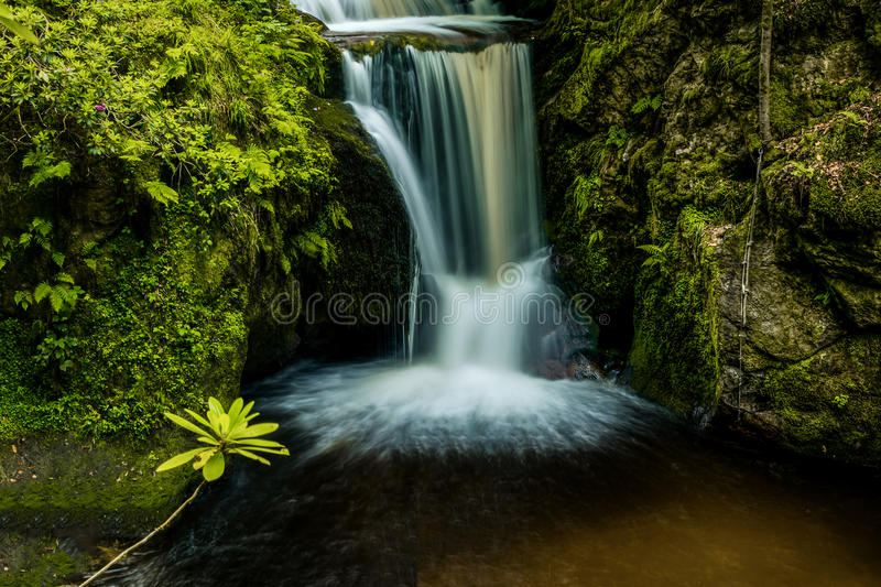 Silky waterfall stock photography